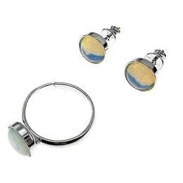 Set argint Excelsior opalit 8 MM, GlamBazaar, cu Opal, Translucid, tip set bijuterii de argint 925 cu pietre naturale