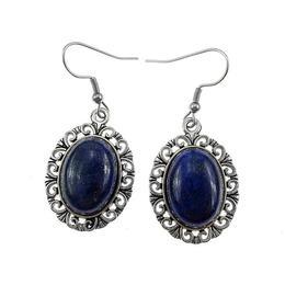 Cercei candelabru filigran cu lapis lazuli natural, GlamBazaar, 4.5 cm x 2.9 cm, cu Lapis Lazuli, Albastru, tip