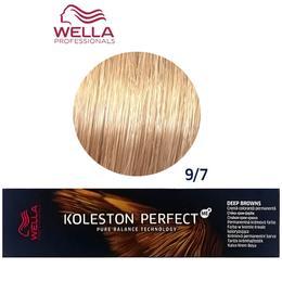 Vopsea Crema Permanenta - Wella Professionals Koleston Perfect ME+ Deep Browns, nuanta 9/7 Blond Luminos Castaniu