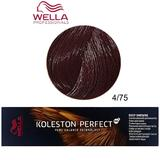 Vopsea Crema Permanenta - Wella Professionals Koleston Perfect ME+ Deep Browns, nuanta 4/75 Castaniu Mediu Maro Mahon
