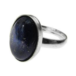 Inel argint reglabil cu lapis lazuli natural 14x10 MM, GlamBazaar, Reglabila, cu Lapis Lazuli, Albastru, tip inel reglabil de argint 925 cu pietre naturale