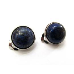 Cercei clips cu piatra naturala lapis lazuli 12 MM, GlamBazaar, 13 mm, cu Lapis Lazuli, Albastru, tip cercei clips cu pietre naturale