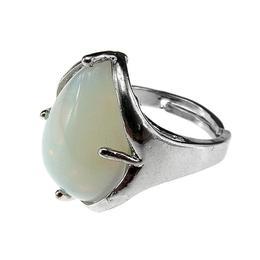 Inel aliaj reglabil cu piatra opalit, GlamBazaar, Reglabila, cu Opal, Translucid, tip inel din aliaj metalic reglabil cu pietre naturale
