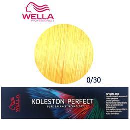 Vopsea Crema Permanenta Mixton - Wella Professionals Koleston Perfect ME+ Special Mix, nuanta 0/30 Auriu