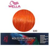Vopsea Crema Permanenta Mixton - Wella Professionals Koleston Perfect Special Mix, nuanta 0/43 Rosu Auriu