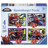 Puzzle spiderman, 4 buc in cutie, 12/16/20/24 piese - Ravensburger