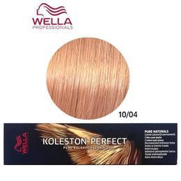 Vopsea Crema Permanenta – Wella Professionals Koleston Perfect Pure Naturals, nuanta 10/04 Blond Luminos Deschis Roscat Natural de la esteto.ro