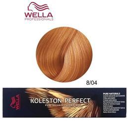 Vopsea Crema Permanenta - Wella Professionals Koleston Perfect Pure Naturals, nuanta 8/04 Blond Deschis Roscat Natural