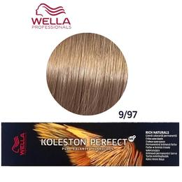 Vopsea Crema Permanenta – Wella Professionals Koleston Perfect ME+ Rich Naturals, nuanta 9/97 Blond Luminos Albastrui Maro de la esteto.ro