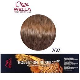 Vopsea Crema Permanenta - Wella Professionals Koleston Perfect ME+ Rich Naturals, nuanta 7/37 Blond Mediu Auriu Castaniu