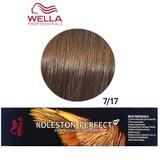Vopsea Crema Permanenta - Wella Professionals Koleston Perfect ME+ Rich Naturals, nuanta 7/17 Blond Mediu Cenusiu Castaniu