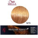Vopsea Crema Permanenta - Wella Professionals Koleston Perfect ME+ Deep Browns, nuanta 9/73 Blond Luminos Maro Auriu