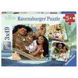Puzzle vaiana, 3x49 piese - Ravensburger
