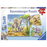 Puzzle animale, 3x49 piese - Ravensburger