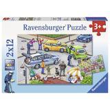 Puzzle politie, 2x12 piese - Ravensburger