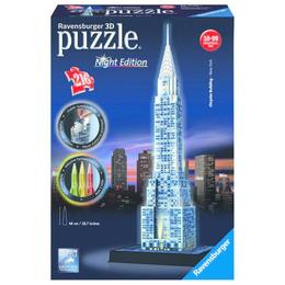 Puzzle 3d cladirea chrysler, editie luminoasa, 216 piese - Ravensburger