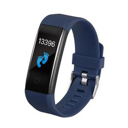 Bratara Fitness Tufen - 115 Plus, Ecran Tactil OLED, SBT 4.0, rezistenta la apa, monitorizare dinamica puls, Android, iOS, intrari apeluri, Model Albastru