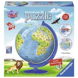 Puzzle 3d copii - globul lumii, 180 piese - Ravensburger