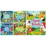 Colectie de carti cu sunete Ferma, Gradina, Noapte, Jungla si Padure - Usborne Publishing
