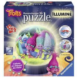 Puzzle 3d luminos trolls, 72 piese - Ravensburger