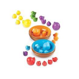 Set pentru sortarea culorilor Learning Resources - Pasarele colorate in cuiburi