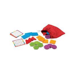 Set educativ de sortat pentru copii Learning Resources - Saculetul cu placute texturate colorate