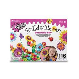 Set de constructie cu roti dintate si flori multicolore Gears! - 116 de piese
