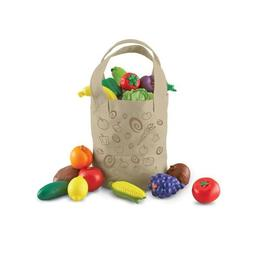 Sacosa cu fructe si legume de jucarie pentru copii, dimensiuni realiste - Learning Resources