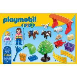 Playmobil 1.2.3 - Set figurine - Animale la gradina zoologica