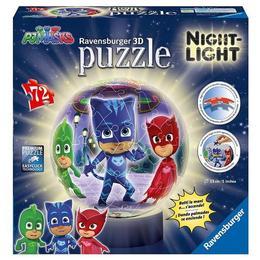 Puzzle 3d luminos eroi in pijamale m1, 72 piese - Ravensburger