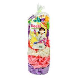 Cuburi constructii colorate pentru fetite 500 piese - Nebunici