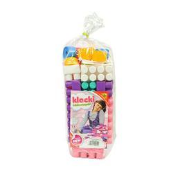 Cuburi constructii mari, colorate, pentru fetite 30 de piese