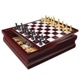 Set jocuri de societate pentru familie Spin Master 10 jocuri in cutie de lemn