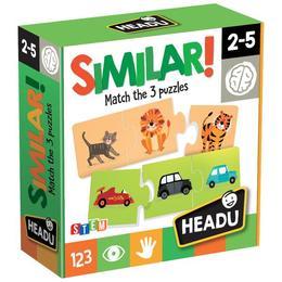 Joc puzzle educational Headu Similar 35 piese