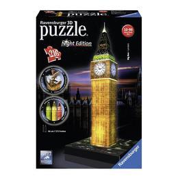 Puzzle 3D Big Ben, Editie luminoasa 216 piese curbate,pliate sau plate