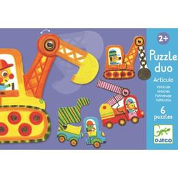 Puzzle duo mobil vehicule - Djeco