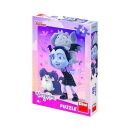 Puzzle clasic pentru copii - Vampirina, 48 piese Nebunici