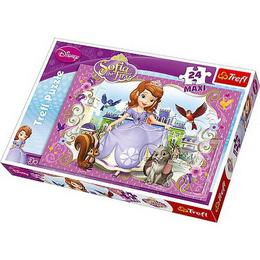 Puzzle clasic pentru copii - Printesa Sofia trefl 24 piese Maxi Nebunici
