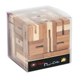 Imagine indisponibila pentru Joc logic puzzle 3d din bambus flexi-cub - Fridolin