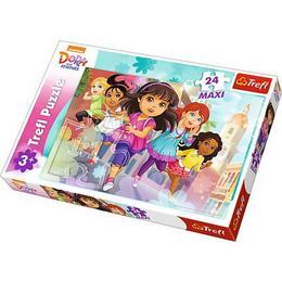 Puzzle clasic pentru copii - Dora, 24 piese Maxi Nebunici