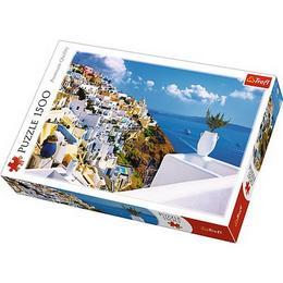 Puzzle clasic pentru adulti - Peisaj Santorini,Grecia 1500 piese Nebunici