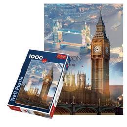 Puzzle clasic pentru familie si copii - Londra Peisaj Big Ben 1000 piese Nebunici