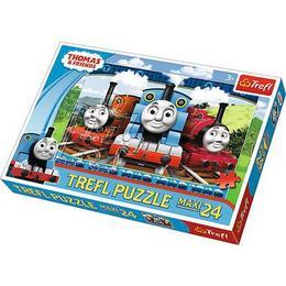 Puzzle clasic pentru copii - Thomas si prietenii sai, 24 piese Maxi Nebunici