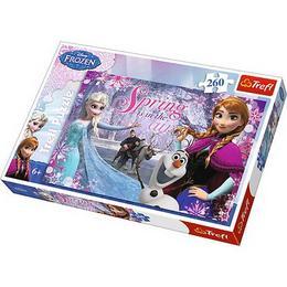 Puzzle clasic copii Frozen, Elsa si Ana pentru copii, 260 piese Nebunici