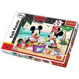 Puzzle clasic pentru copii - Minnie Mouse 24 piese maxi