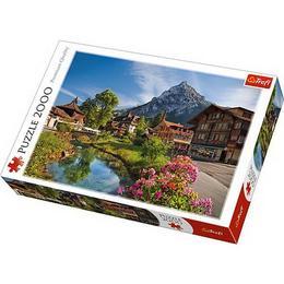 Puzzle clasic pentru familie si copii - Peisaj Alpi, 2000 piese