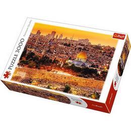 Puzzle clasic copii si familie - Peisaj la apus Ierusalim 3000 piese