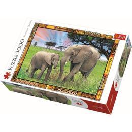 Puzzle clasic copii si familie - Elefanti 3000 piese - Terfl