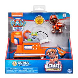 Figurina Paw Patrol Zuma's Hovercraft - Ultimate Rescue Salvarea Suprema - Patrula Catelusilor Zuma si aeroglisor