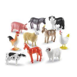 Set 60 de figurine de jucarie pentru copii, aspect realistic Learning Resources - Animale domestice - Ferma